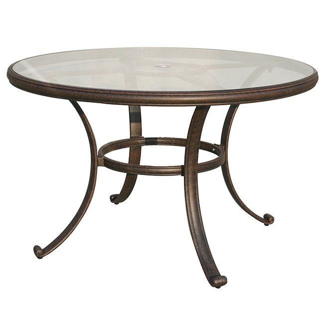 27d34af6a003 Shop Venice 48-inch Round Dining Table with Glass Top - Free Shipping Today  - Overstock - 6150835