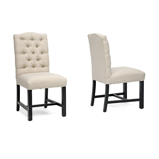 Pearsall Beige Linen Dining Chair (Set of 2)