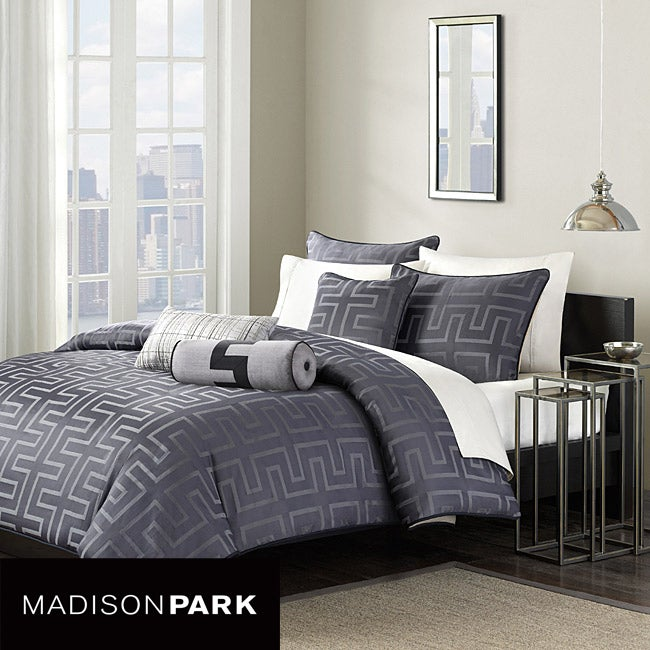 Madison Park Soho 6 Piece King Size Duvet Cover Set Free