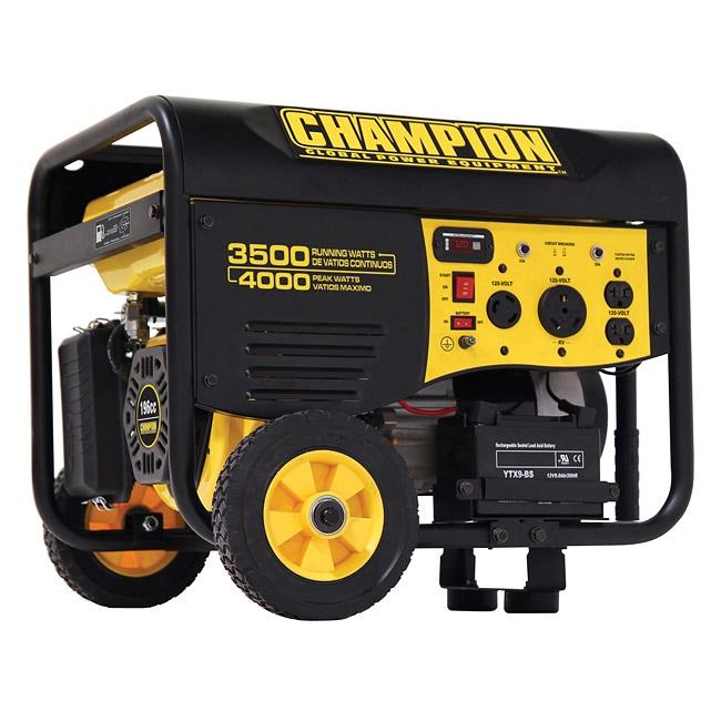 Champion 3500 Watt Remote Electric Start And RV Outlet Portable Generator