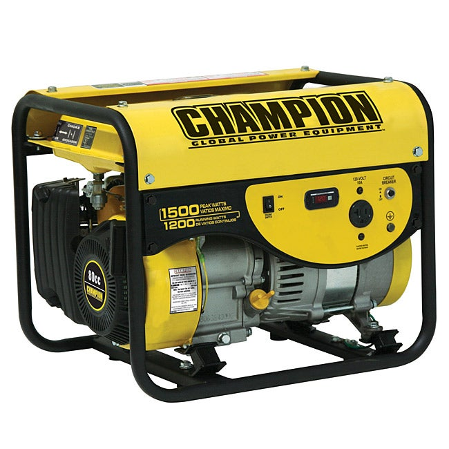 Champion 1500-watt Portable Gas Powered Generator