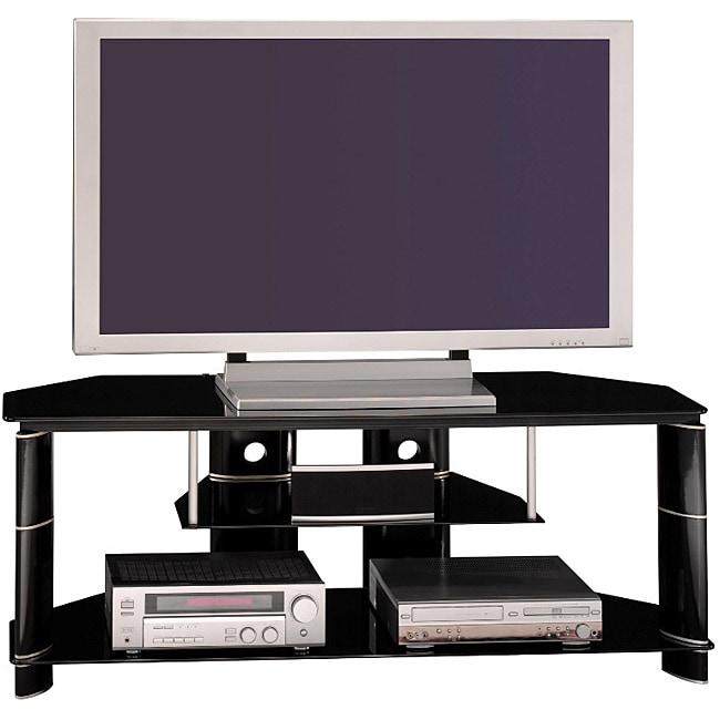 Bush Furniture High Gloss Black Segments Collection TV Stand