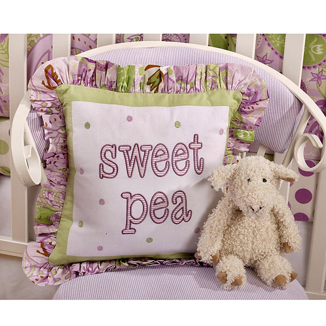 My Baby Sam Sweet Pea Throw Pillow