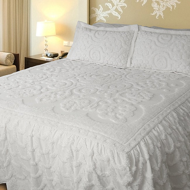 Shop Lara White King Size Bedspread Free Shipping Today
