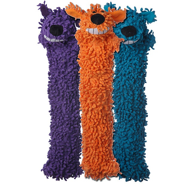 Multipet Floppy Loofa Unstuffed Lightweight Dog Toys (Pack of 3)