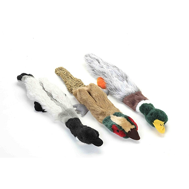 Multipet Empty Nester 'No Stuffing' Migrator Birds Dog Toys (Pack of 3)