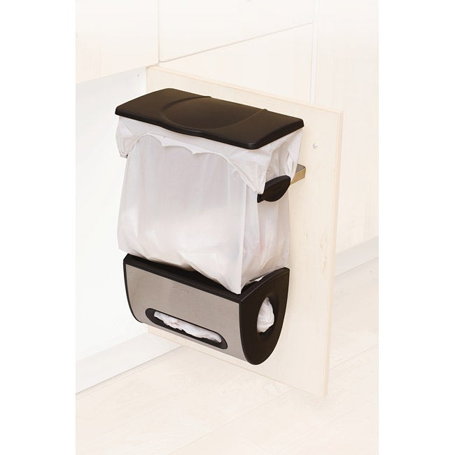 Simplehuman Cabinet-mount Trash Can and Grocery Bag Holder