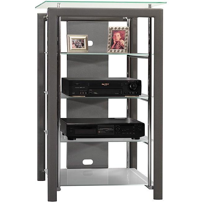 Bush Furniture Platinum Mist Audio Tower