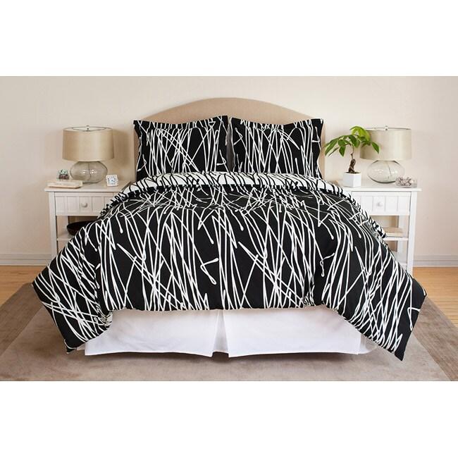 Scribble 3-piece King-size Comforter Set