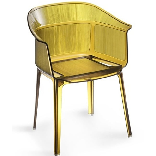 Verona Transparent Brown Dining Chairs (Set of 4)