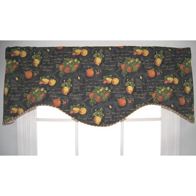 Citrus Grove Cornice Valance