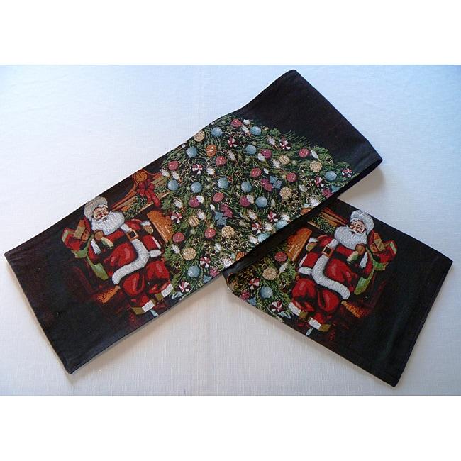 """Santa's Gift Tapestry 70"""" Table Runner"""