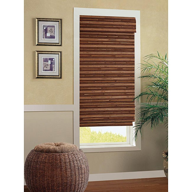 Bonaire Cordless Bamboo Roman Shade (23 in. x 72 in.)