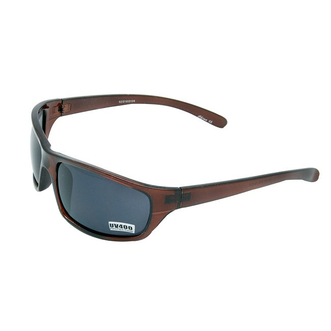 Men's Dark Brown Sport Sunglasses