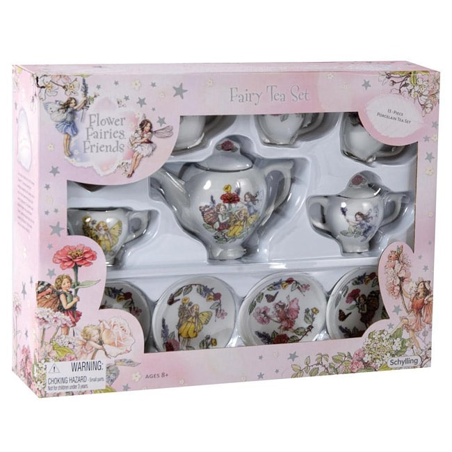 Schylling Flower Faires Porcelain Tea Set
