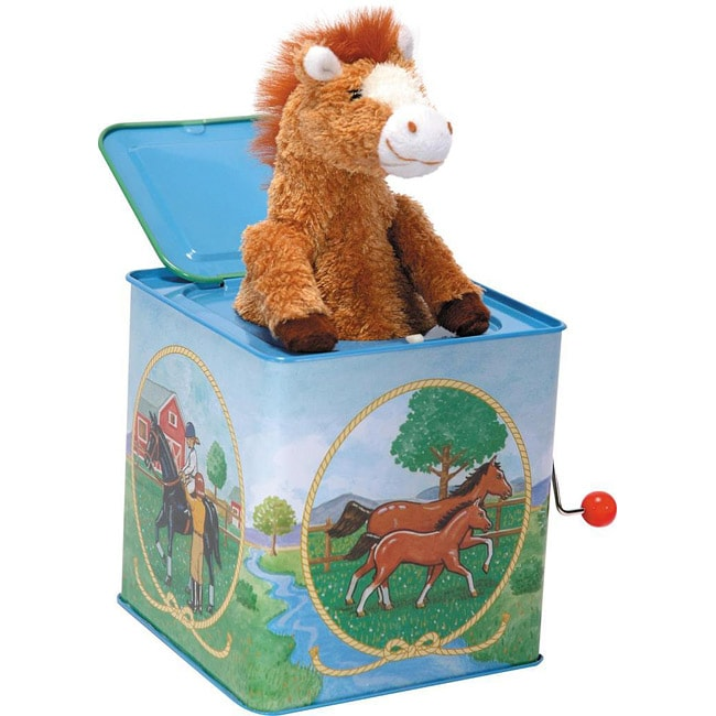 Schylling Pony with Voice Chip Jack in the Box Toy