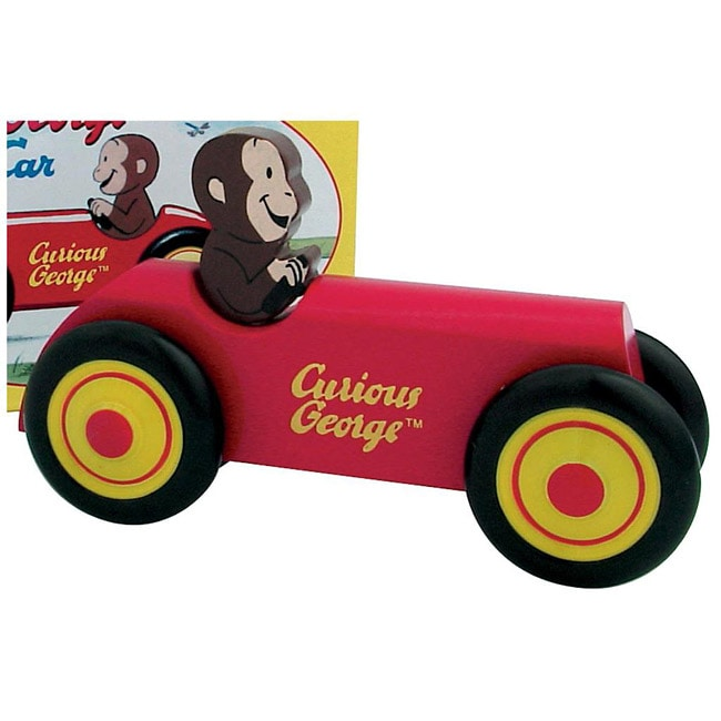 Schylling Curious George Wooden Car Toy