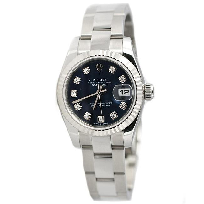 Rolex Women's Datejust Diamond Stainless Steel Watch