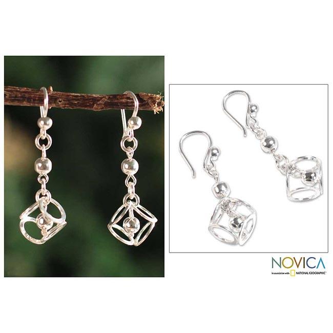 Sterling Silver 'Lima Light' Dangle Earrings (Peru)