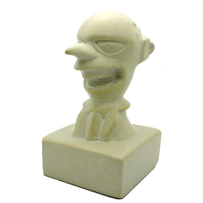 Hand-Carved The Simpsons 'Mr Burns' Soapstone Sculpture (Kenya)