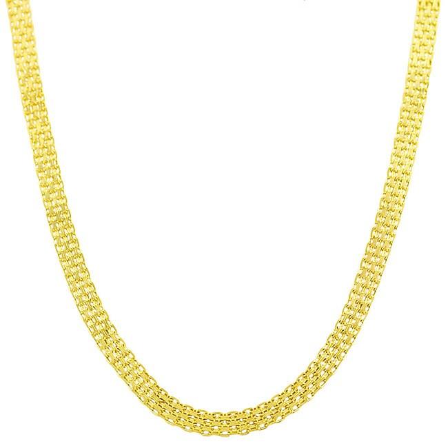 Fremada 14k Yellow Gold 20-inch Bismark Chain