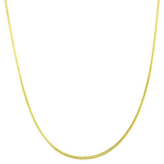 14k Yellow Gold 20-inch Square Foxtail Chain