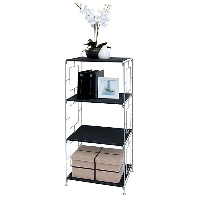 Black 3-shelf Storage Rack