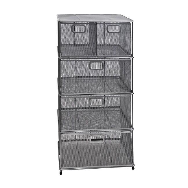 Mesh 5-drawer Storage Chest