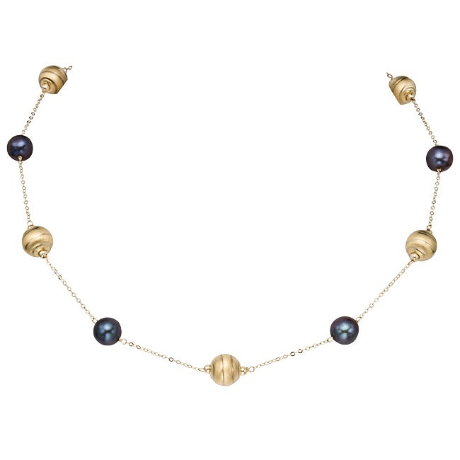 Pearlyta Cultured Baroque Pearl Necklace (9-10 mm)