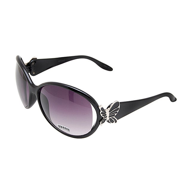 Women's Onyx Black Butterfly Fashion Sunglasses