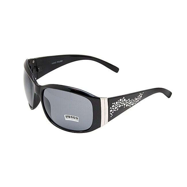 Ladies Onyx Black Embellished Fashion Sunglasses