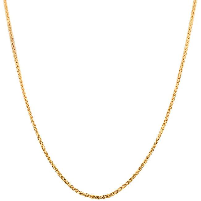 Fremada 14k Rose Gold 20-inch Round Wheat Chain