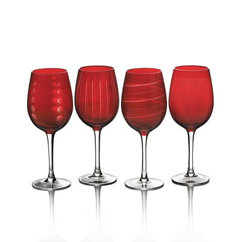 Mikasa Cheers Ruby 15.75-oz Wine Glasses (Set of 4)
