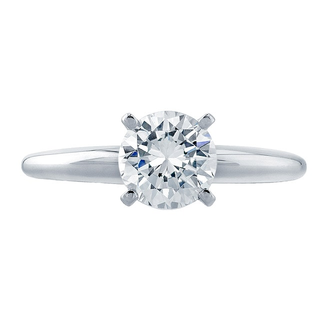 14k White Gold 2ct TDW Clarity Enhanced Diamond Solitaire Ring (G-H, SI2-SI3) - Thumbnail 0