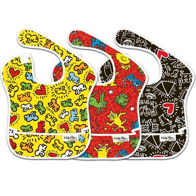 Bumkins Keith Haring Waterproof SuperBibs (Pack of 3)
