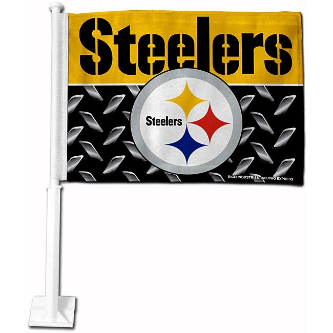 Pittsburgh Steelers 19-inch Car Flag - Thumbnail 0