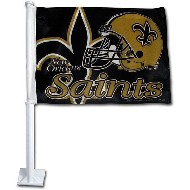 New Orleans Saints 19-inch Car Flag
