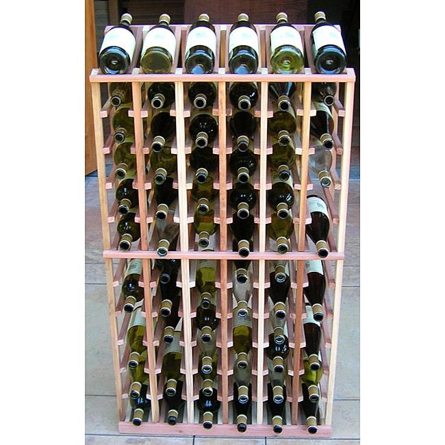 Redwood 72 Bottle Wine Display Rack