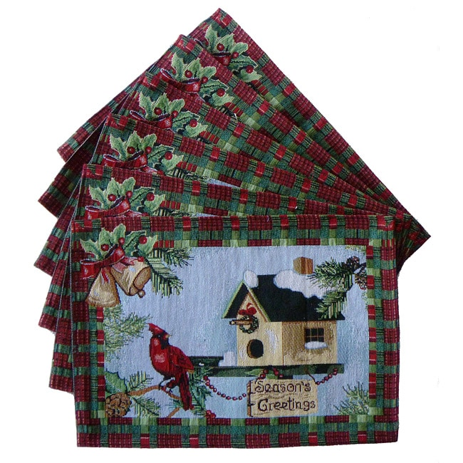 Tapestry Season's Greetings Place Mats (Set of 6)