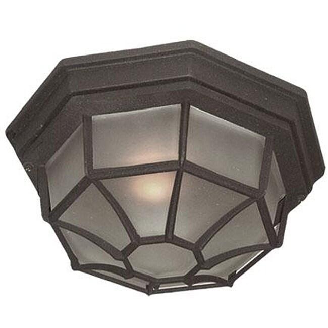 Woodbridge Lighting Basic 1-light Powder Coat Black Outdoor Flush Mount