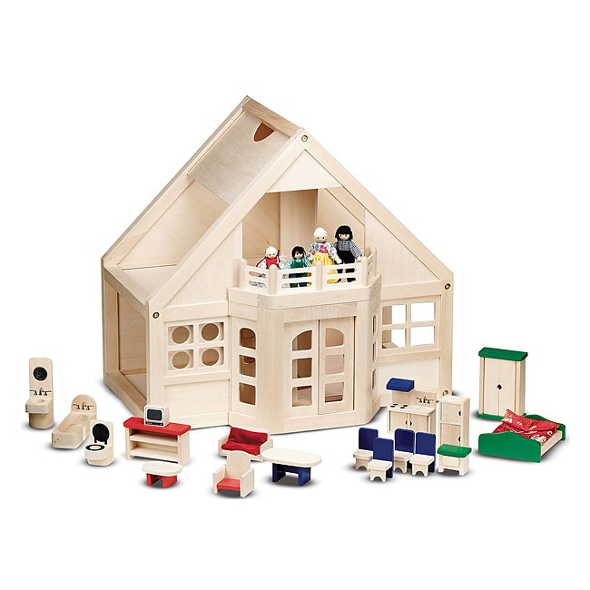 Melissa & Doug Furnished Dollhouse Play Set