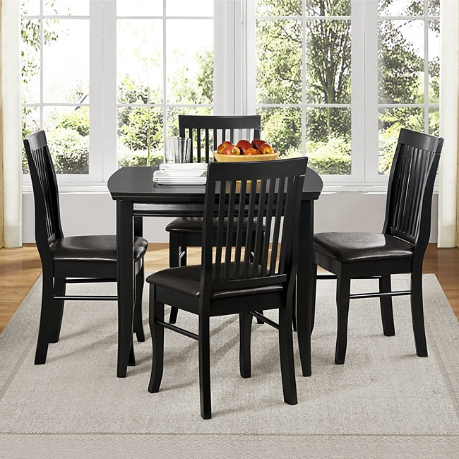 Oscar Black 5-piece Dining Set