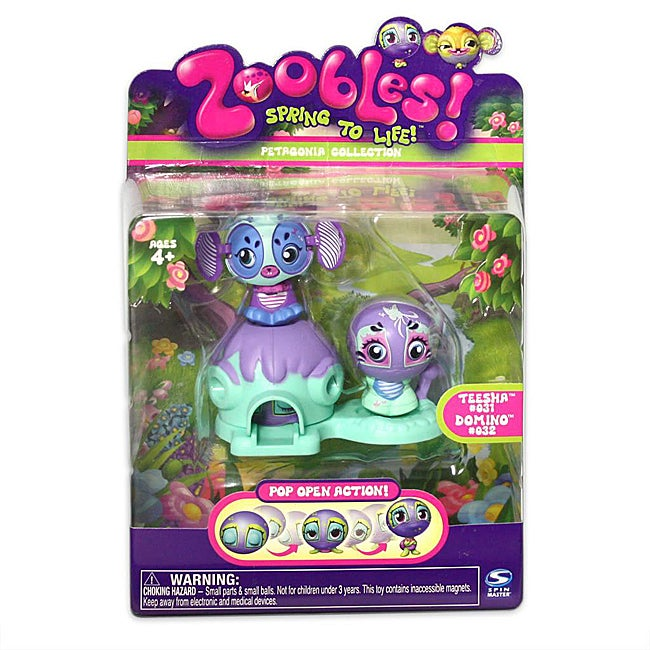 Zoobles Turtle and Mouse Happitat Toy