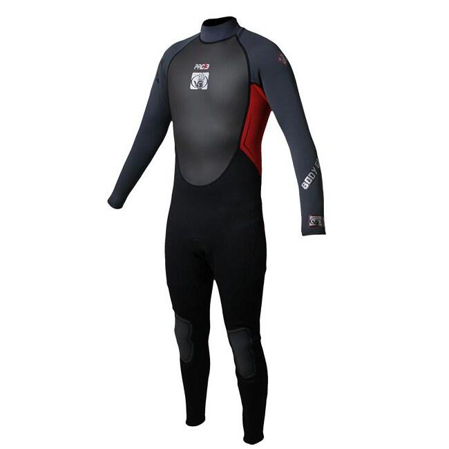 Body Glove Men's Pro 3 Black/ Red Full Wetsuit