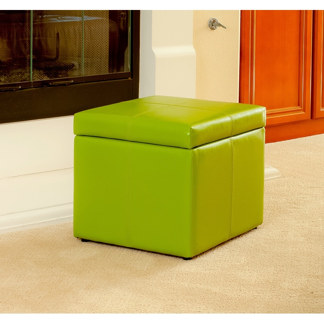 Christopher Knight Home Square Lime Green Cube Storage Ottoman