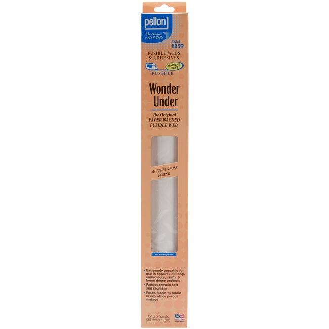 Pellon 805 Wonder-Under Paper-Backed Fusible Web (15-inch x 2yd)