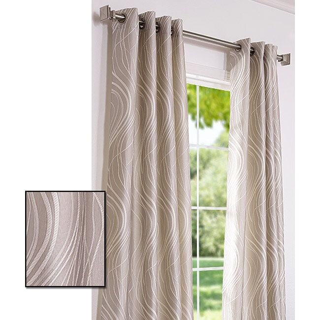 Exclusive Fabrics Grommet Sand Dune Faux Silk 106-inch Curtain Panel
