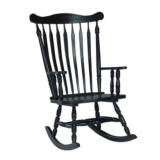 Missoni Home Rocking Chair: Colonial Antique Black Rocking Chair