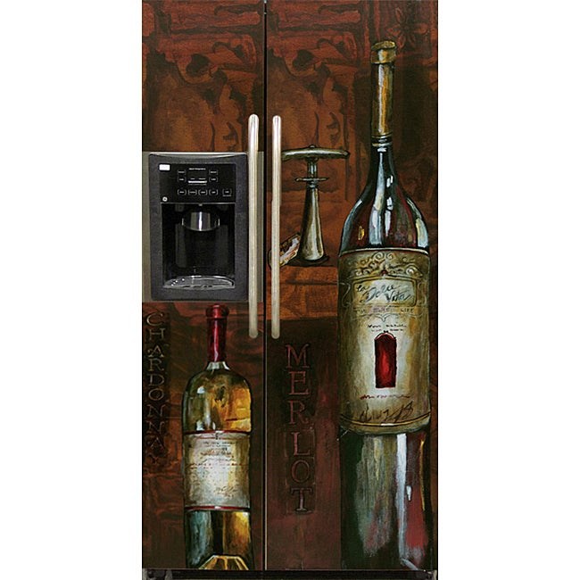 Appliance Art 'Old World Wine' Refrigerator Cover (Side/ Side)