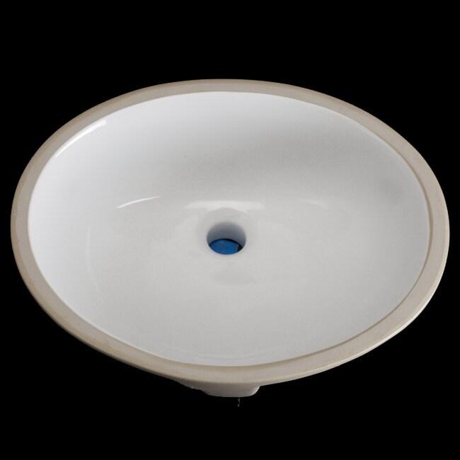 Undermount Oval 16 5 Inch White Vitreous China Bathroom